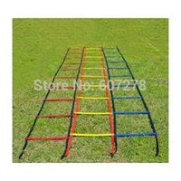 Wholesale 10pc feet Soccer Training Speed agility ladder Quick Flat Rung Agility Ladder carry bag LA24128