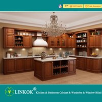 apartment design - Linkok Apartment Living Modern Kitchenette Design solid wood Kitchen Cabinets