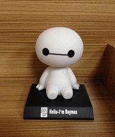 Wholesale Accessible Shaking Baymax Toy with Degree Rotable Head for Car Decoration Free Power