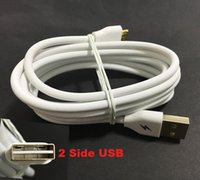 Wholesale New side Double USB Mobile Phone V8 Micro Data Charge Fast Cable M For Samsung Galaxy S3 S4 S6 LG Cyberstore