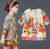 little girls clothing - 2015 Childrens Floral Dresses Stylish Cost effective Little Girls Dresses Excellent Quality Printed Clothes for Kids KD0528