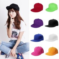 Wholesale Fashion Adjustable Unisex Baseball Caps Sport Hat Femal Male Men Women Solid Color Flat Visor Unisex Headwear Hip hop style