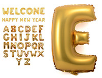 Wholesale BIG Aluminum foil balloons membrane English letters wedding New Year celebration Christmas holiday balloon birthday party QU6