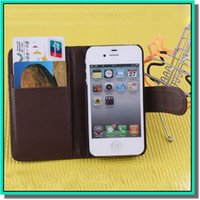 Wholesale Hot colorful inch Vintage Style pu leather case with Card Slots Holder and change pocket For iPhone plus colors in store DHL free