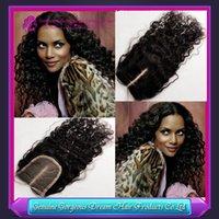 Cheap middle free 3 part virgin hair closure Best 3.5x4 curly human hair Lace Closure