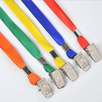 Wholesale Fashion Candy Colors Badge Necklace with Metal Clips for ID Card Business Card Student Card Exhibition Card