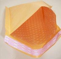 Wholesale 120 mm kraft paper bubble envelope bag yellow postal parcel courier bags seismic compression foam bags