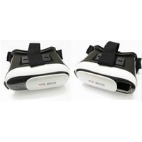 Wholesale 1PCS VR BOX Version Head Mount Plastic Google Cardboard Virtual Reality Glasses D Game Movie bluetooth remotol control