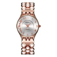 antique rose color - Luxury Style Original Quartz Female Clock Rose Gold Color Simple Analog Display Antique Watches Famous Brand Watch Leisure Band