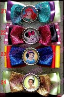 belle brown - princess hair bows Princess hair bows Belle cinderella ariel snow white