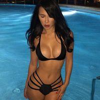 121 - 2015 new black red Sexy bikini set strappy bikini string swimsuit swimwear women bathing suit bather biquini maillot de bain