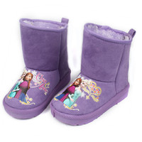 Wholesale 2015 New Arrival Children Snow Boots Girls color Princess Elsa Anna Cotton Fabric Boots Winter Kids Warm Thicken slip Shoes