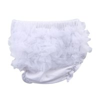 Wholesale Hot Sell AAA Quality Baby Cotton PP Underpants Infant Ruffle Briefs Toddler Bloomer Cute Clothes Free Ship ELT1