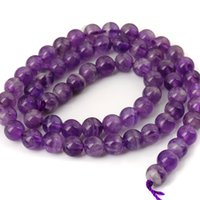 Wholesale Fashion Statement natural Stone Amethyst Round Bead purple Crystal gemstone mm Chunky Pandora Bracelet Necklace for jewelry christmas gifts