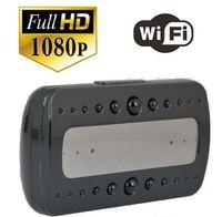 Wholesale Wifi P Hidden Spy Cam IP Camera Alarm Clock Mini Camcorders HD Deg with Night Vision Black