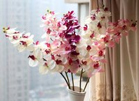 Wholesale Stem Silk Flower Artificial Moth Orchid Butterfly Orchid for new House Home Wedding Festival Decoration NO181