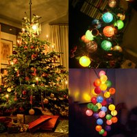 Wholesale 2015 Christmas Tree Decorations Luminous Ball Fall Winter New Year s Wedding Birthday Party Supplies Colourful Dismountable Lamp Adorns