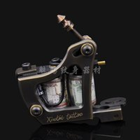 Wholesale 2015 New High Quality Wraps mm Coils Copper Yellow Tattoo Art Professional Tattoo Machine Shader Liner