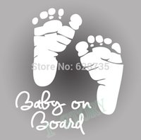 auto sticker baby - Refective Car Sticker Cool Cute Baby on Board Auto Safety Warning Stickers Window Sticker