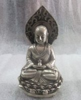 ancient chinese sculptures - The ancient Chinese sculpture arhats silver plated copper Buddha statue