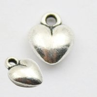 Wholesale New Arrival Vintage Puffy Heart Charms For Necklaces And Bangle mm AAC331