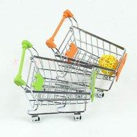 Wholesale Hot Selling New Mini Shopping Handcart Small Supermarket Practical Pushcart Trolley Phone Holder Kids Toys