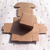 Wholesale 50pcs cm kraft brown paper single cupcake boxes custom gift box corrugated paper cake packaging boxes