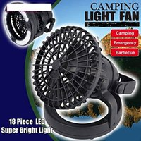 Wholesale 2 in LED Camping Fan Light Combo Flashlight and Ceiling Fan for Outdoor Hiking Fishing Outages and Emergency Tent Light