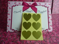 Wholesale 3 cm gold large heart sticker