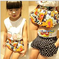 baby bloomers - 2015 Children s Shorts Pants Kids girl Bloomers print floral Loose Pant Baby girl fashion Summer dot trousers Babies clothes