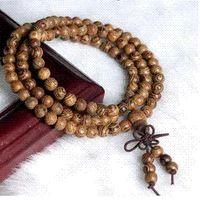 agate wood bead - 1Pcs Free Shippin mm African natural Wenge wood bead prayer japa rosary mala bracelet necklace Tibetan buddha meditation