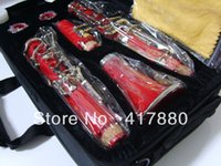 Wholesale Factory direct key bakelite clarinet in B flat surface of red