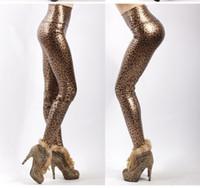 Cheap sexy leopard-print leggings Best Imitation leather leggings