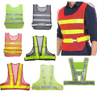 Wholesale 2015 New Designed Adjustable High Visibility Yellow Green Safety Vest Security Reflective Coat For Traffic Construction Safety