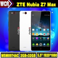 Wholesale 5 inch G Network Snapdragon Quad Core x1080 ZTE Android Phone Nubia Z7 Max Smartphone GB RAM Z7 mini Mobile Phone