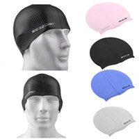 hair gel - Free Size Silicone Grainy Particles Swimming Cap Hat Waterproof Men Women Hair Care Protect Ears Pure Silica Gel Unisex Y0243