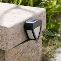 Wholesale Details about Solar Powered Waterproof LED Motion Sensor Garden Lamp Outdoor Wall Light Fence