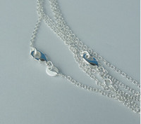 Wholesale HOT Sterling Silver Flat Curb Rolo Chains o style Necklaces quot quot