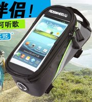 Wholesale New arrival roswheel dhl fre bicycle waterproof outdoor front tube bag for inch inch inch cellphone iphone6