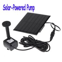 Wholesale Solar Powered Pump For Water Cycle Pond Fountain Rockery Fountain Freeshipping