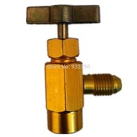 Wholesale Automotive Air Conditioning R a M14 Thread Interface AC Refrigerant Bottle Opener Can Tap Dispensing Valve SAE order lt no track