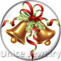 al por mayor pulsera de cascabeles-AD1301098 12/18 / 20 mm con cierre a presión caliente encantos de la pulsera del collar de la venta DIY de cristal botones a presión joyería cascabel Diseño de Navidad Noosa