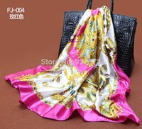 Cheap scarf women 2014 anchor scarf satin large square scarf 90 * 90 cm red silk scarf Mixed style