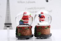 resin christmas ornaments - 2015 new china creative gifts ornaments Christmas gifts large resin crystal ball rotating music box