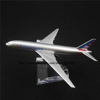 aa airline - cm Alloy Metal Air American AA Airlines Boeing B777 Airways Airplane Model Plane Model W Stand Aircraft Toy Gift