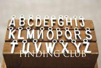Wholesale Metal Alloy Silver Bronze initial letter alphabet charms letter pendant for bracelets x6mm