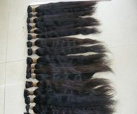 Wholesale Unprocessed Brazilian Peruvian Human Bulk Hair Bundle Mix Size quot quot strasight Hair Bulk Hair Extensions