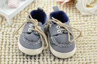 Unisex baby boy borders - new Cotton Baby lace up walking shoes boys gray soft bottom walking shoes girls Anti slip Shoes Footwear girls pu casual shoes pc pair