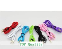 Wholesale 1000pcs DHL mm AUX audio cables male to male Stereo Car Extension audio Cable for MP3 for phone colorful hot