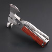 Wholesale New Outdoor Multifunction Stainless Steel Safety Hammer Hand Multi Tool Combination Convenient Hammers